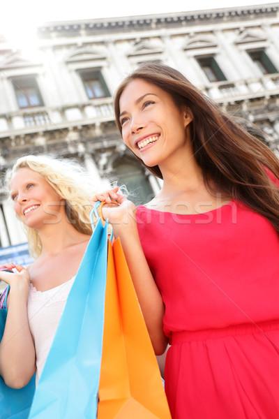 Shopping women city portrait Stock photo © Maridav