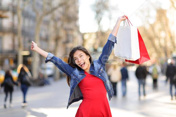 幸せ ショッピング 女性 ラ 通り バルセロナ ストックフォト © Maridav