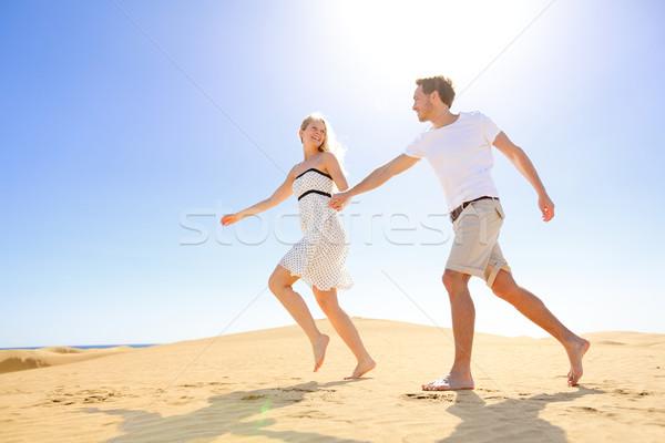 Stockfoto: Relatie · gelukkig · paar · romantische