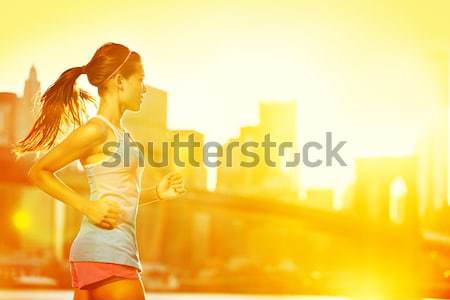 Summer runner drinking Stock photo © Maridav
