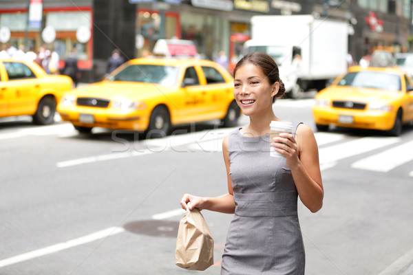 Business woman in New York City candid and real Stock photo © Maridav