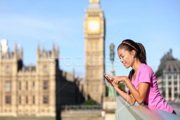 Лондон жизни женщину большой Бен Runner Сток-фото © Maridav