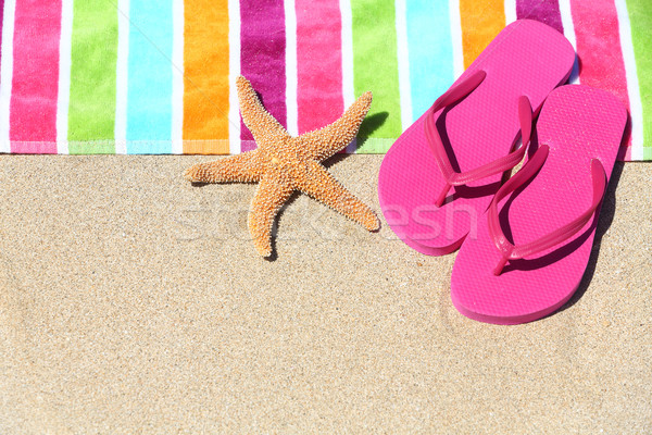 Tropical beach vacation holiday travel concept Stock photo © Maridav