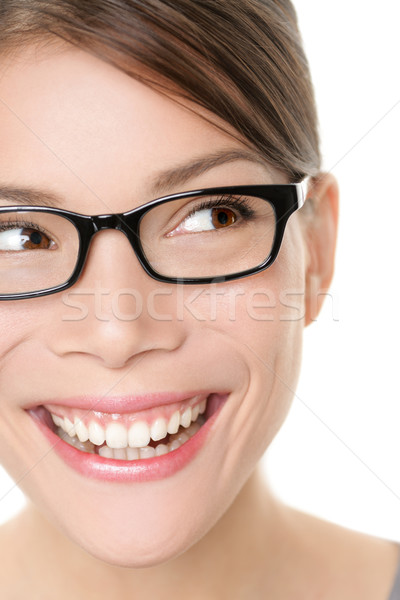 Glasses eyewear spectacles woman looking happy Stock photo © Maridav