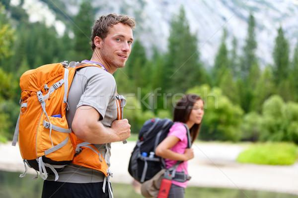 ハイカー 人 ハイキング 男 見える ヨセミテ ストックフォト © Maridav