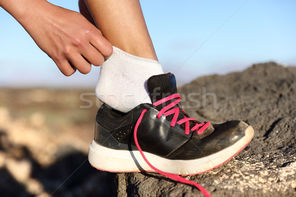 Corredor fitness zapatos zapatillas primer plano aire libre Foto stock © Maridav