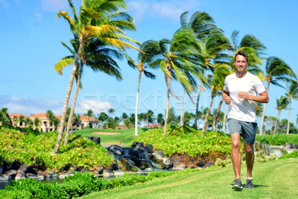 Aktywny życia szczęśliwy runner człowiek jogging Zdjęcia stock © Maridav