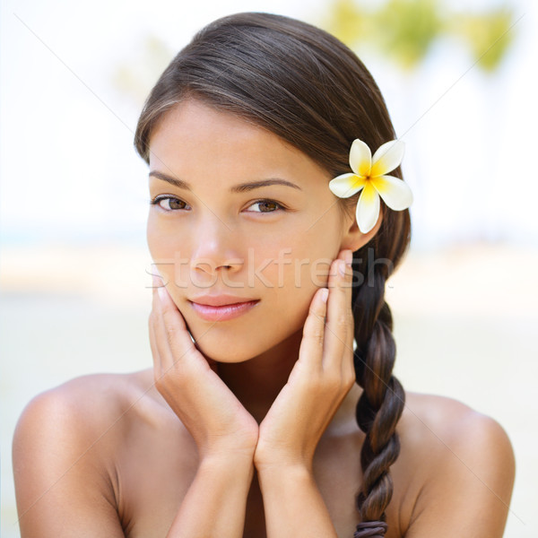 Spa resort beauty portrait of woman Stock photo © Maridav