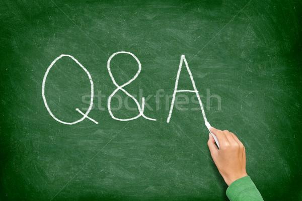 Kérdések válaszok iskolatábla kérdés válasz támogatás Stock fotó © Maridav