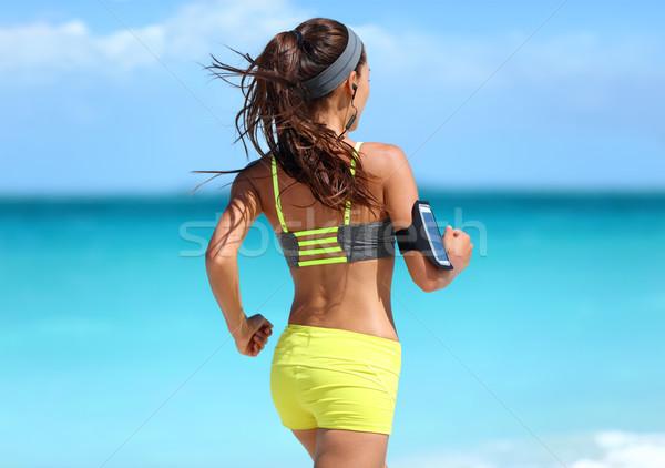 çalışma motivasyon koşucu eğitim müzik arkasında Stok fotoğraf © Maridav