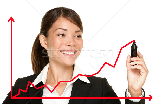 Business success growth chart Stock photo © Maridav