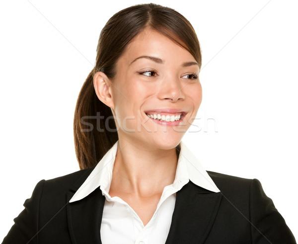 Asian businesswoman looking sideways Stock photo © Maridav