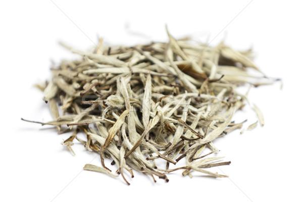 Zdjęcia stock: Herbaty · biały · pozostawia · chińczyk · srebrny