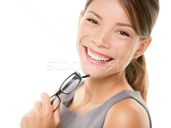 Foto d'archivio: Giovani · asian · donna · d'affari · ritratto · professionali · donna · sorridente