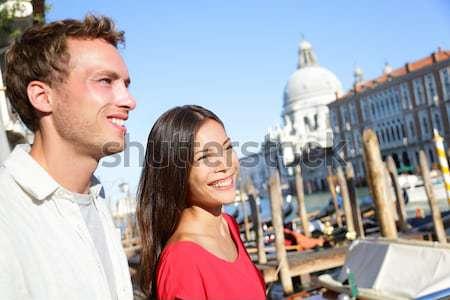 Asiático turista mulher barco tour Berlim Foto stock © Maridav