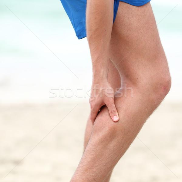 Been sport spier letsel runner spierpijn Stockfoto © Maridav