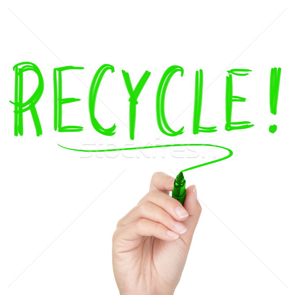 Recycle - recycling text Stock photo © Maridav