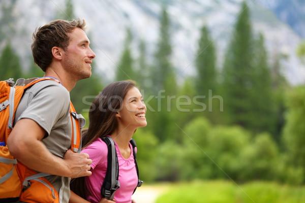 カップル アクティブ ハイカー ハイキング ヨセミテ ストックフォト © Maridav