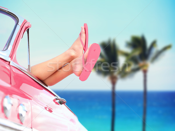 Vacation travel freedom beach concept Stock photo © Maridav