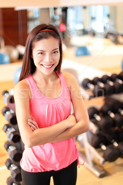 Fitnessstudio Frau Fitness Zentrum stolz Porträt Stock foto © Maridav