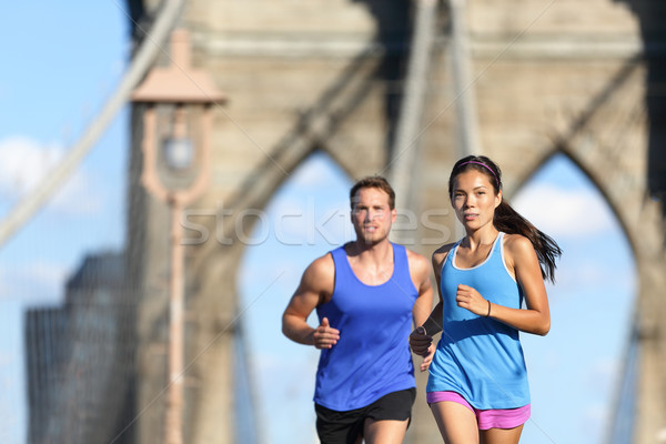 Urban runners running people in New York City NYC Stock photo © Maridav
