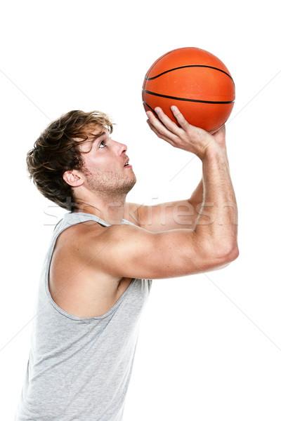 Stock photo: Basketball player