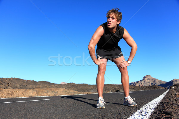 Jogger resting after running Stock photo © Maridav