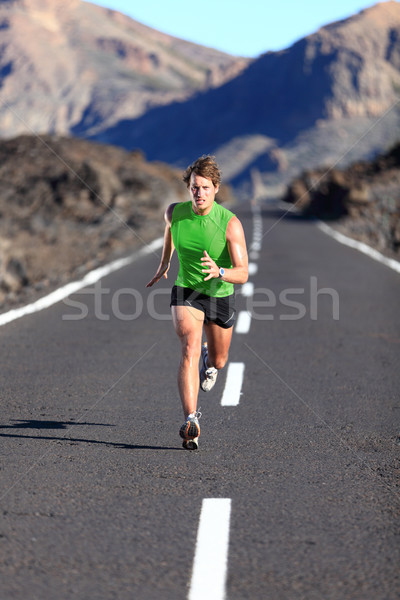 Running - male athlete running Stock photo © Maridav