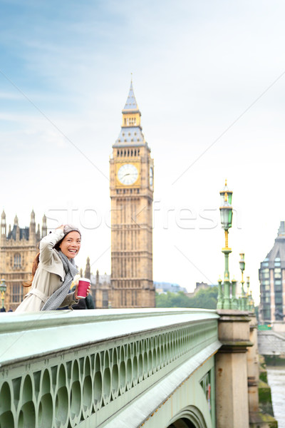 London woman happy by Big Ben Stock photo © Maridav