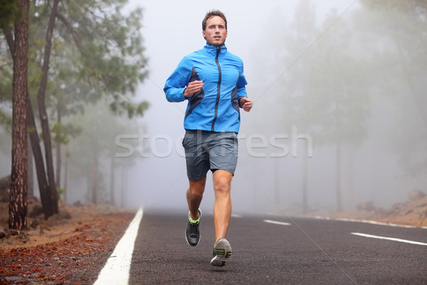 Healthy running runner man workout Stock photo © Maridav