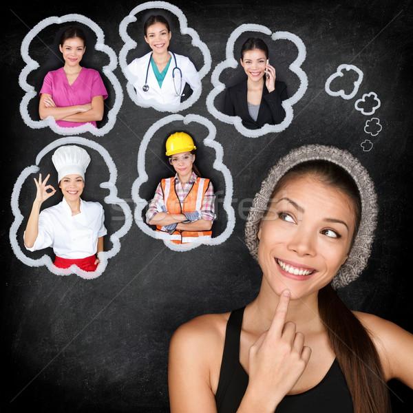 Stockfoto: Onderwijs · carriere · student · denken · toekomst · keuze