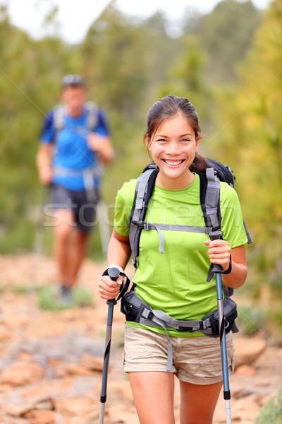 Hiker woman Stock photo © Maridav