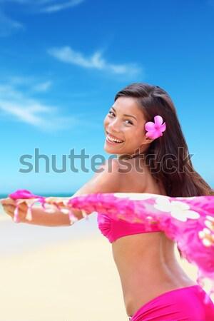 自然の美 民族 女性 幸せ ビーチ ストックフォト © Maridav