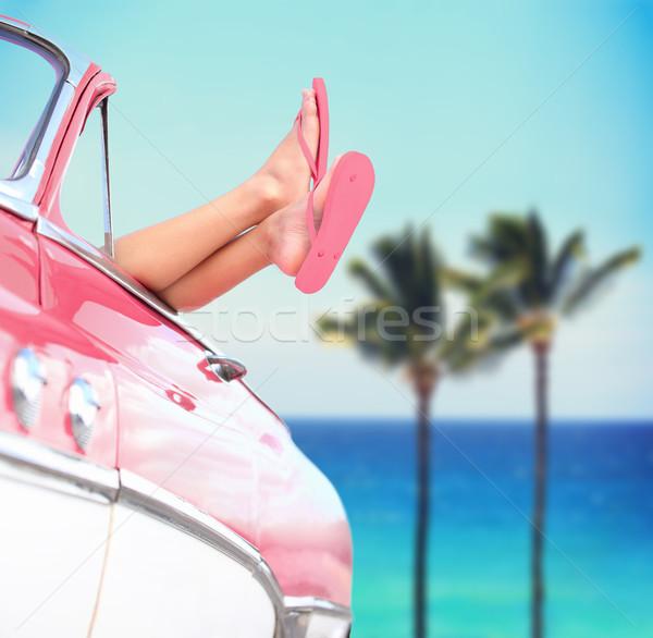 ストックフォト: 夏休み · 旅行 · 自由 · クール · 女性