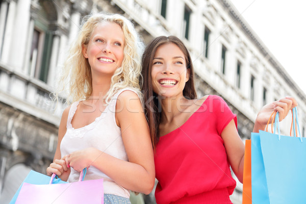 Shopping girls - women shoppers with bags, Venice Stock photo © Maridav