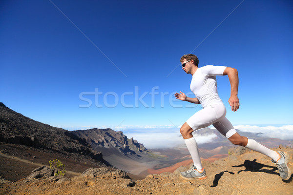 Running sport runner man Stock photo © Maridav
