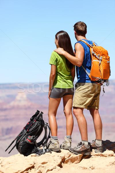 Persone escursioni escursionisti Grand Canyon Coppia guardando Foto d'archivio © Maridav