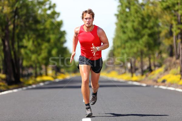 Fut fitnessz sport férfi férfi futó Stock fotó © Maridav