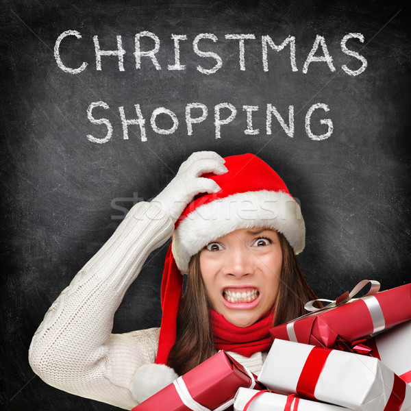 Foto d'archivio: Natale · regali · shopping · donna · vacanze · stress