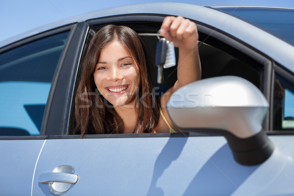Driving new rental car or drivers license concept Stock photo © Maridav