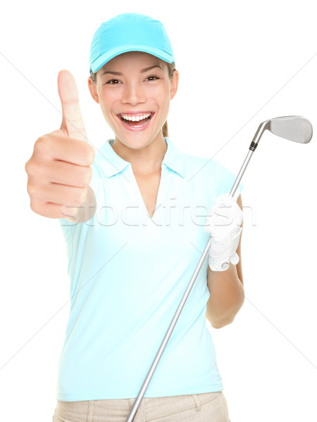 Golf player success woman smiling Stock photo © Maridav