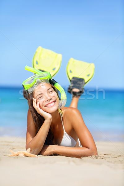 Woman on summer beach vacation holidays Stock photo © Maridav