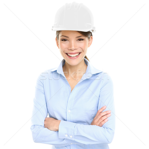 Architect, Engineer or entrepreneur business woman Stock photo © Maridav