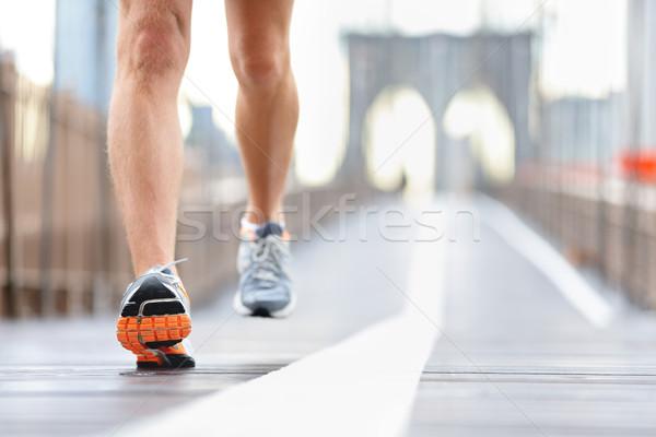 кроссовки ног ног Runner бег Сток-фото © Maridav