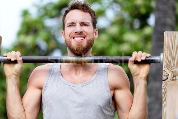 Crossfit fitness man training jonge Stockfoto © Maridav