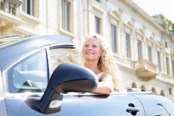 Nő vezetés autó női sofőr új autó Stock fotó © Maridav