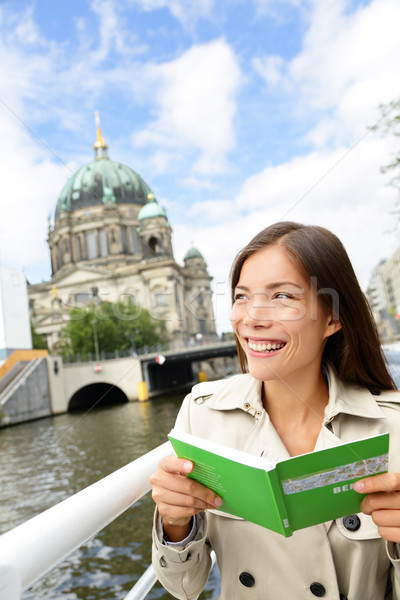 Tourist woman on boat tour Berlin, Germany Stock photo © Maridav