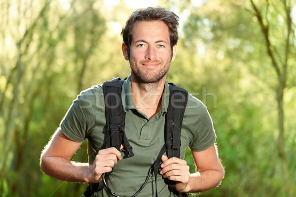 Giovane escursioni sorridere felice ritratto maschio Foto d'archivio © Maridav