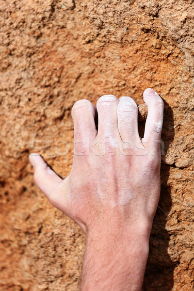 Climbing hand grip on rock Stock photo © Maridav