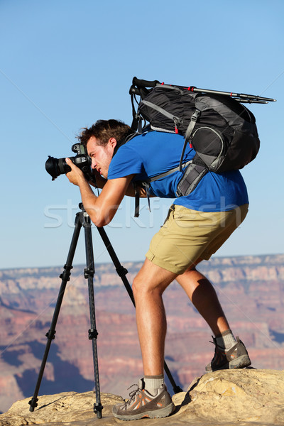 Photographer in Landscape nature in Grand Canyon Stock photo © Maridav